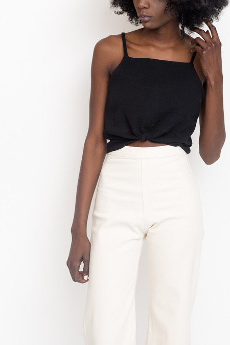 Hackwith Design House Split Hem Cropped Tank