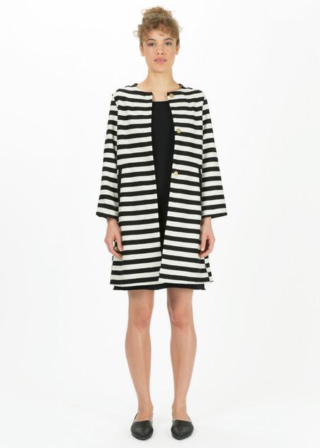 Odeeh Striped Mod Coat