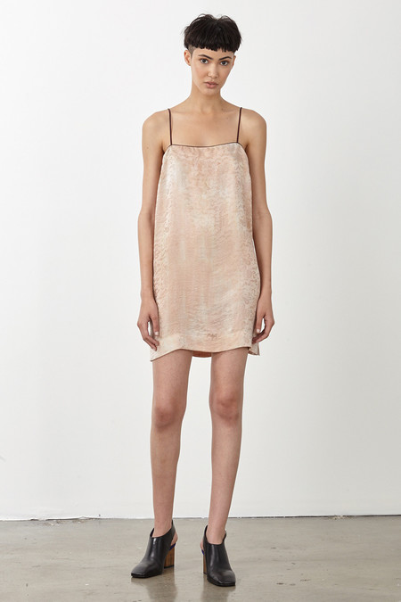 Raquel Allegra DESERT SILK DAMASK 90s MINI DRESS