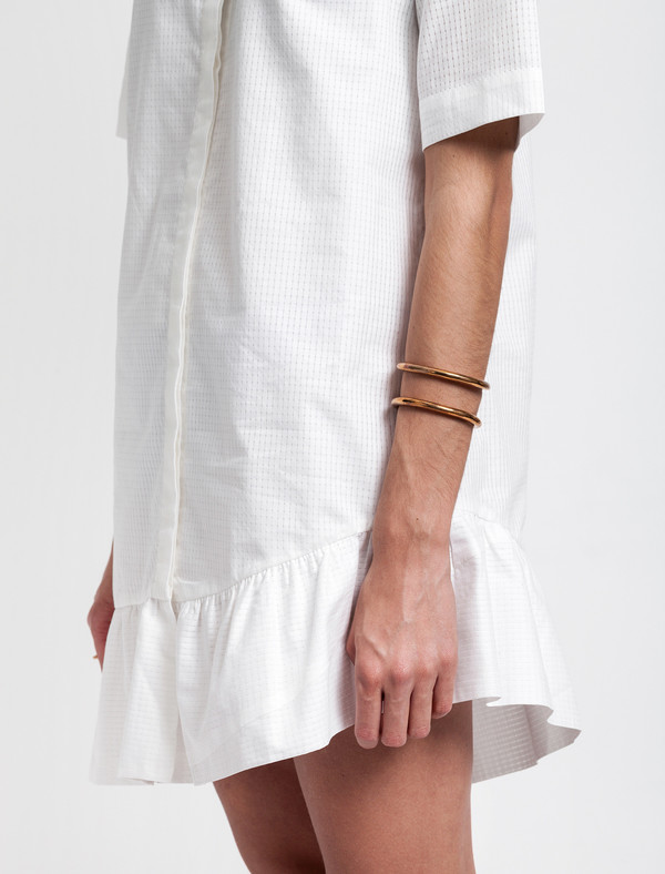 Thakoon Addition Ruffle Hem Shirt Dress