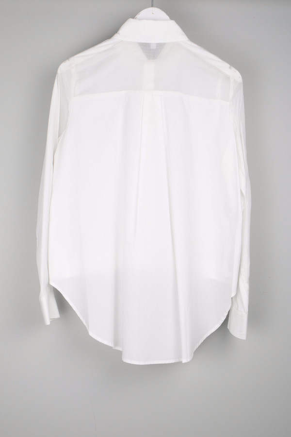 10 Crosby by Derek Lam Shirt W/ Back Tail White