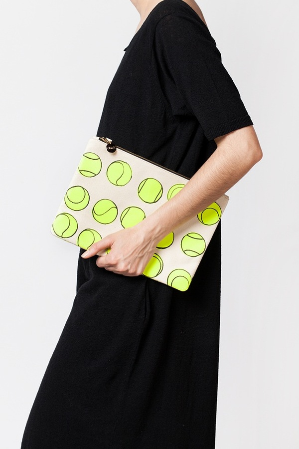 Clare V. Flat Clutch-canvas tennis