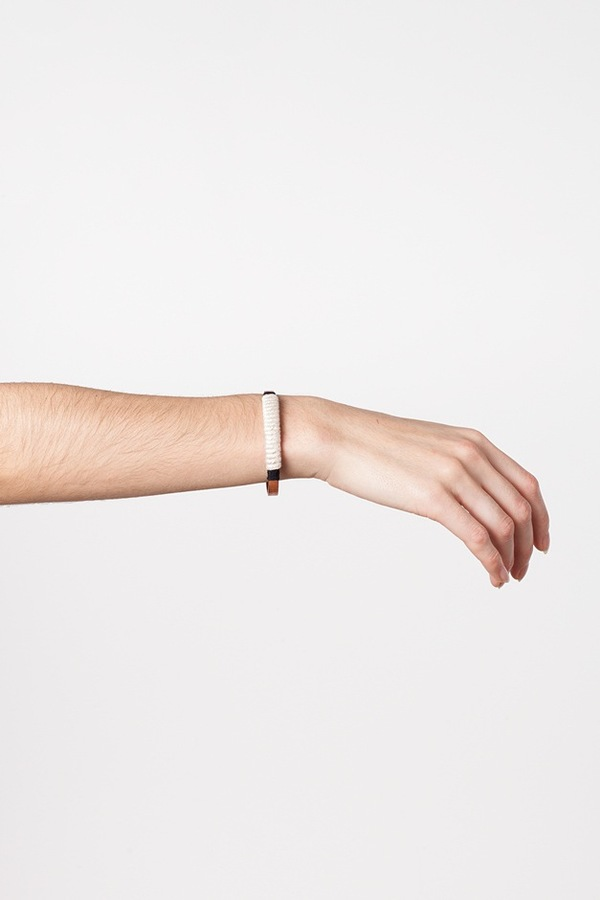 WWAKE x Assembly New York Small Wrapped Cuff-white