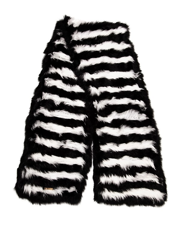 C/Fan Waldo Scarf, Black & White