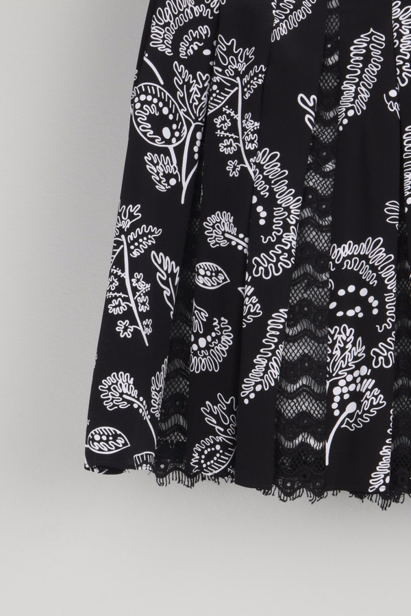 Thakoon Addition Lace Inset Skirt