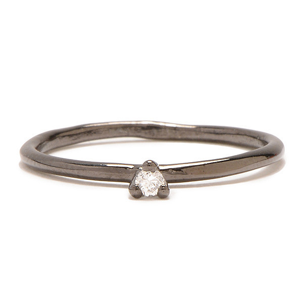 Tarin Thomas Taylor Gunmetal and White Diamond Ring
