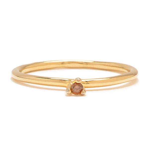 Tarin Thomas Taylor Yellow Gold Plate and Cognac Diamond Ring