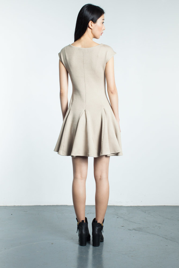 Karolyn Pho Anaya Godet Sweater Dress