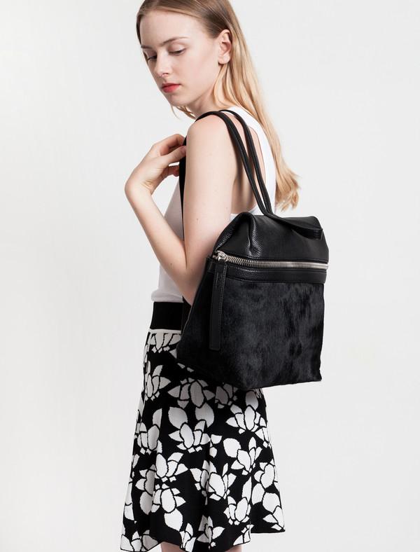 Kara Calf Hair Backpack Black
