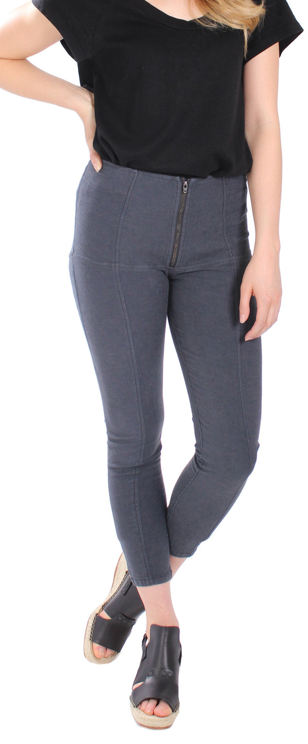 Prairie Underground A/L Denim Girdle Capri in Graphite