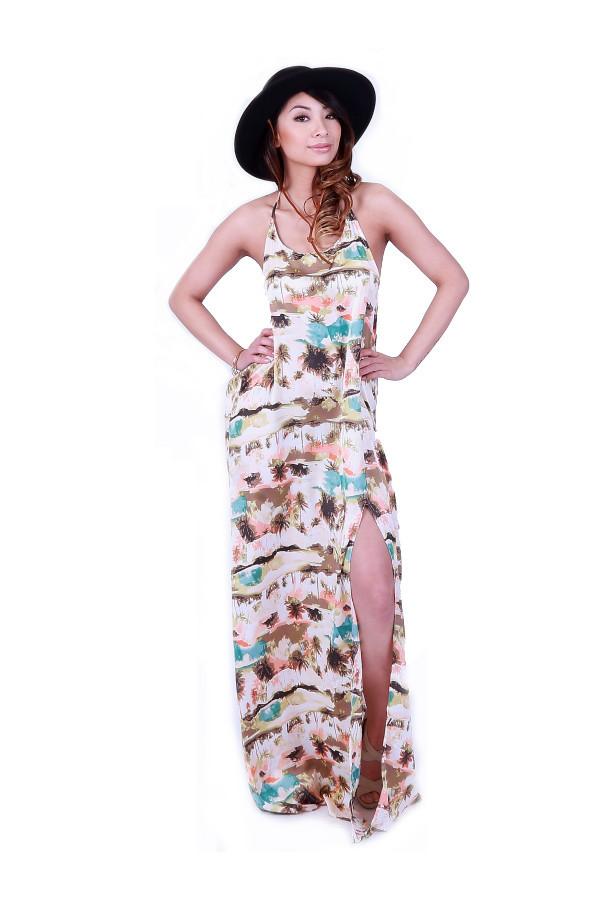Ark & Co. Beach Side Slit Long Dress