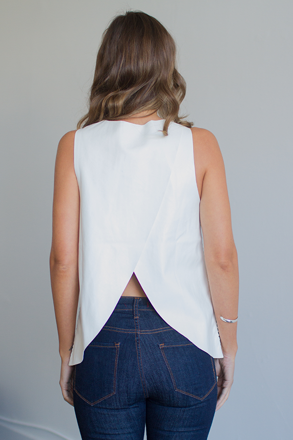 Premonition Perforated Cross Back Tank