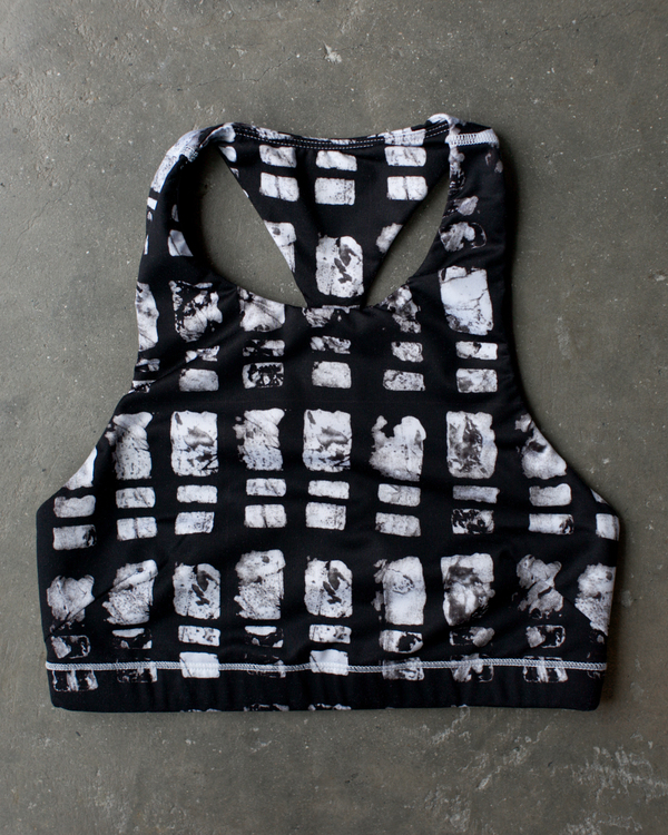 Osei-Duro x the lab Cassava Bra | Grid Print
