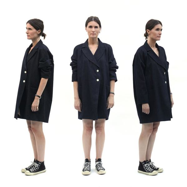 Sunja Link Tailored Denim Coat