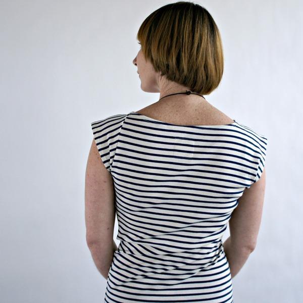 Study NY Twist Dress in Navy Stripe