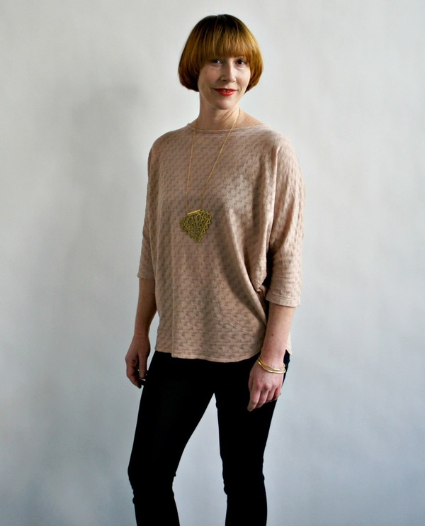 Izzy Top by Curator Rose Beige