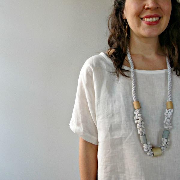 Jessalin Beutler White Linen Tunic