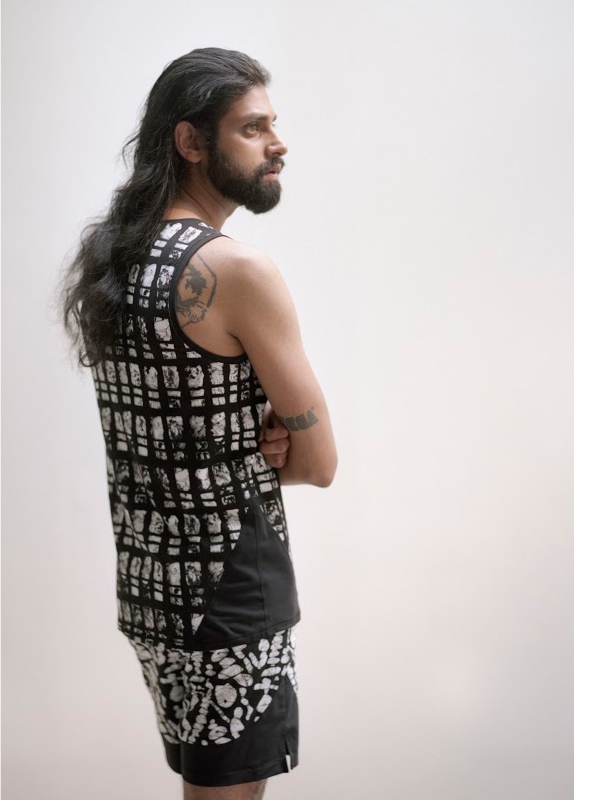 Men's Osei-Duro x the lab Cassava Tank | Grid Print
