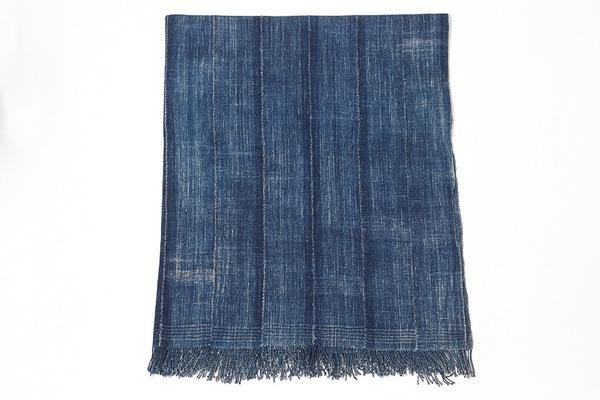 Osei-Duro Strip Woven Indigo Blanket