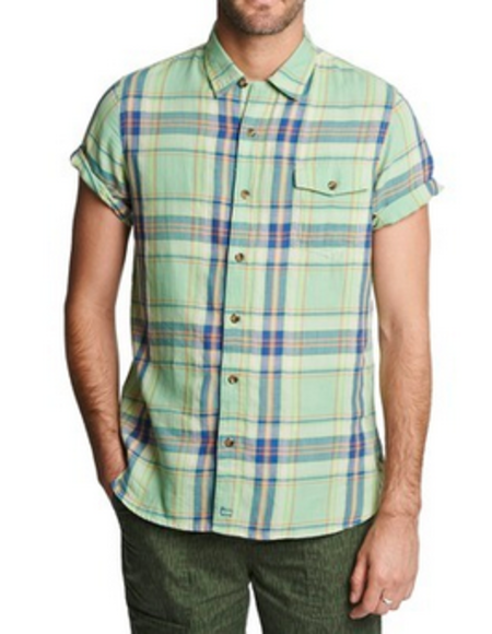 Woolrich Dobby Short Sleeve Plaid Shirt