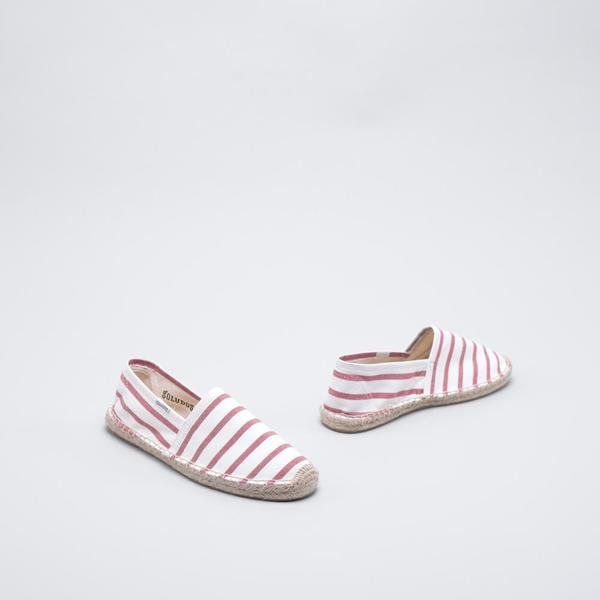 Soludos Original Stripe - White/Red