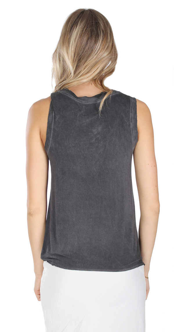 Tina + Jo The Muscle Tank in Black