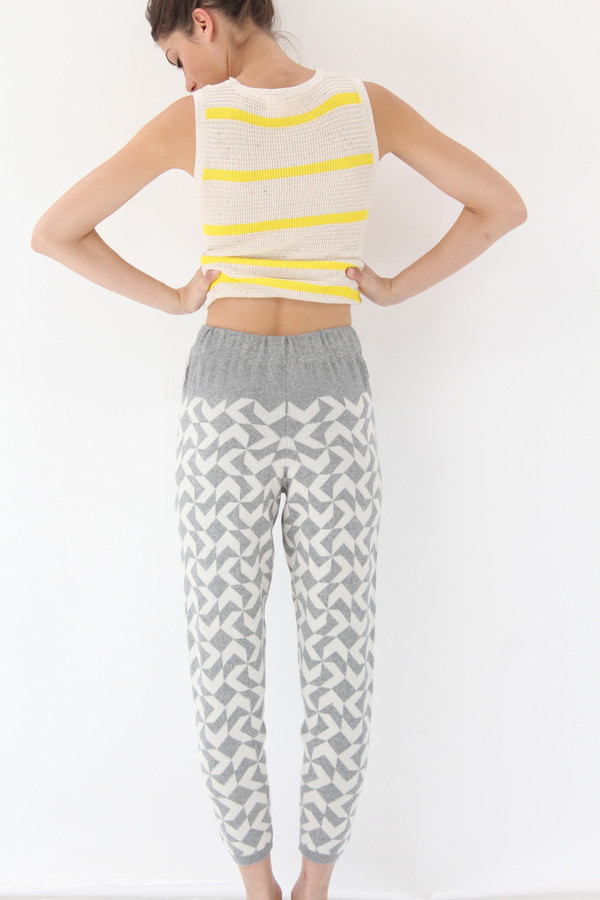 Micaela Greg Arrow Sweatpant Ivory