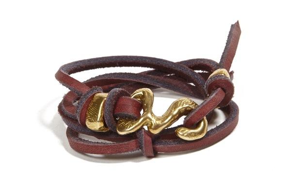 Unisex Nettie Kent Rawhide wrap bracelet