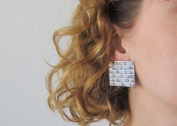 brick wall earrings