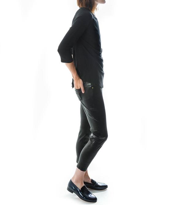 Raquel Allegra 3/4 Sleeve Raglan Cocoon Shirt