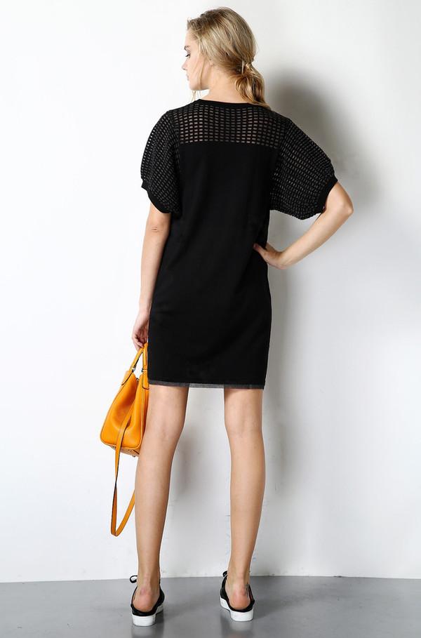 Few Moda Ice Silk Knit Sheer Dress