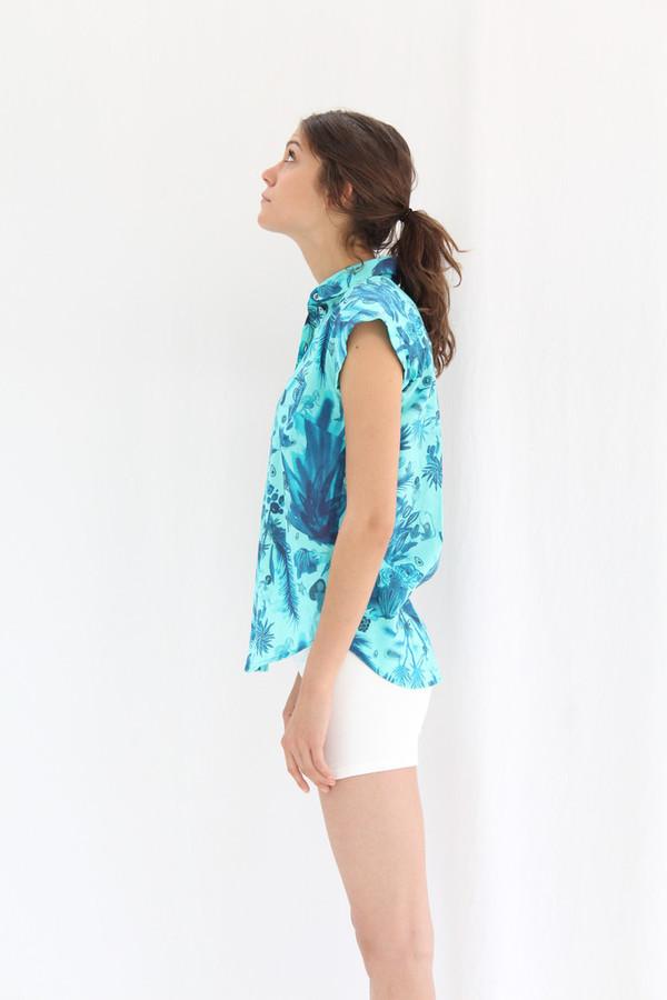 Heinui May Shirt Tropical Blue