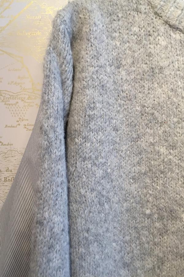 Tibi Wool & Stripe Shirting Combo Pullover