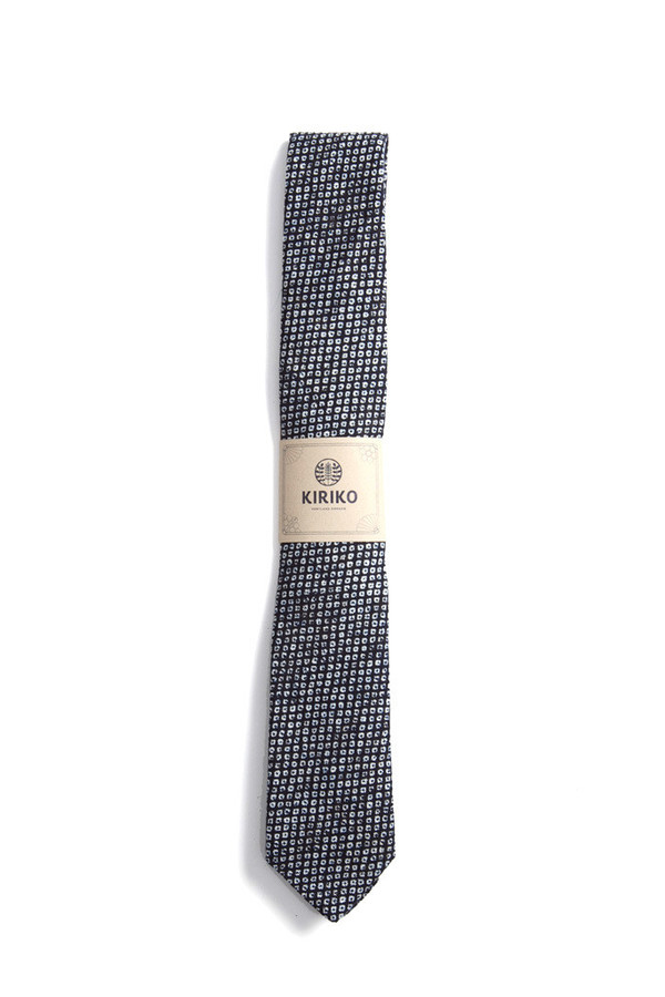 Kiriko Shibori Tie | Navy