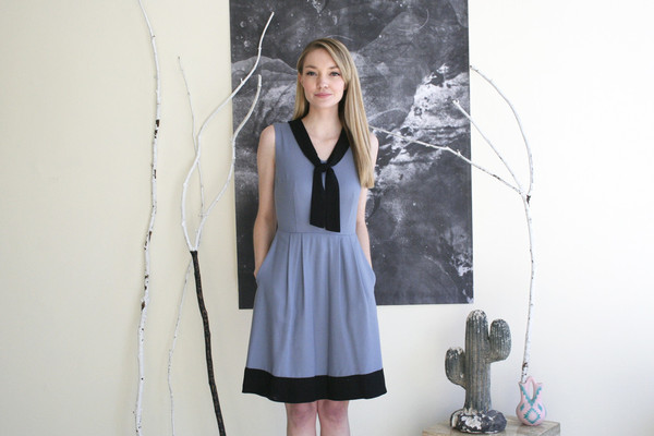 Birds of North America Hillstar Dress - Light Blue