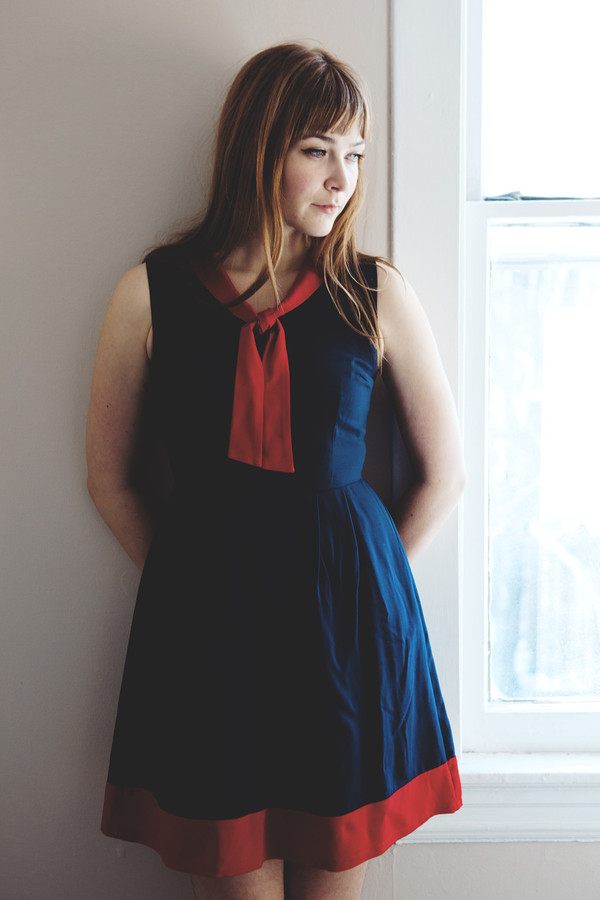 Birds of North America Hillstar Dress - Navy