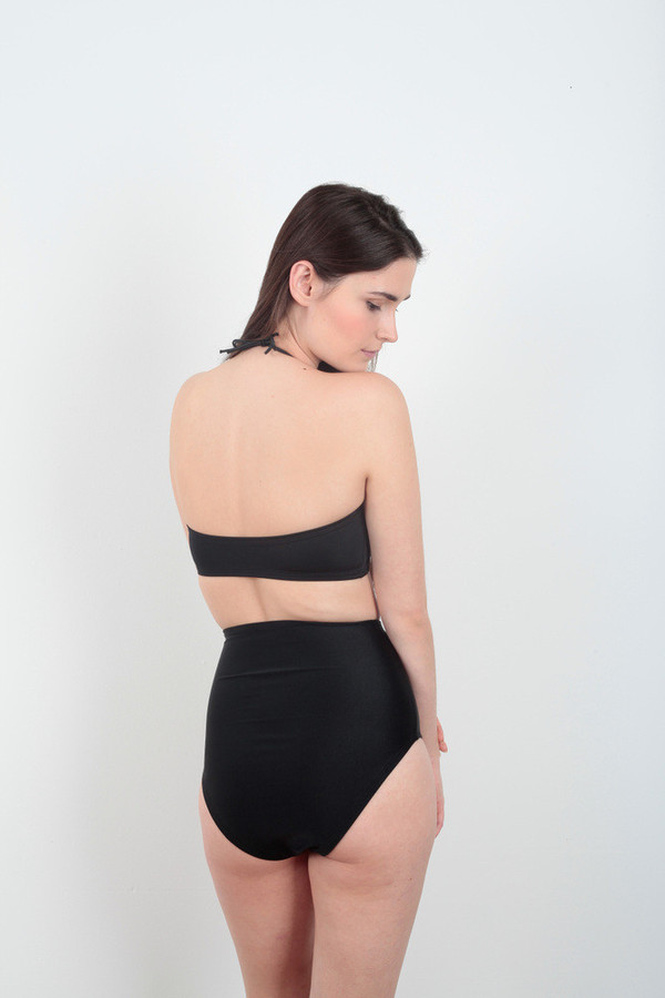 Minnow Bathers High-Waisted Black Lemmy Bottoms
