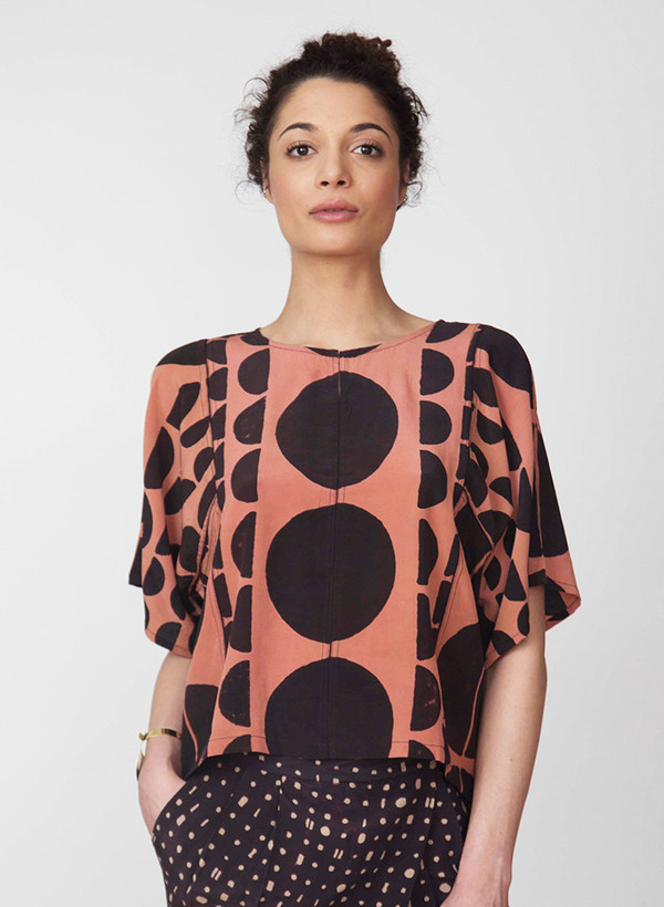 Seek Collective Jynne Top | black eclipse print