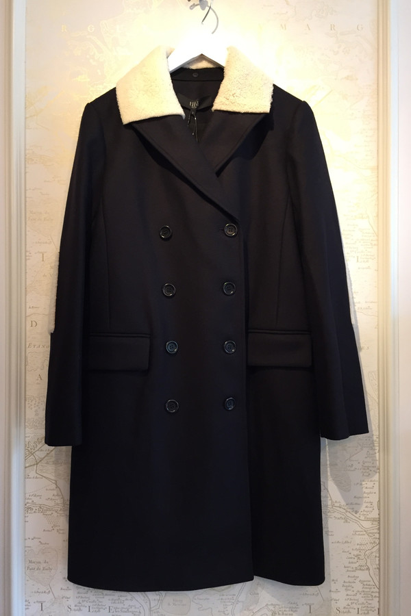 Tibi 'Esquire' coat with Alpaca patches