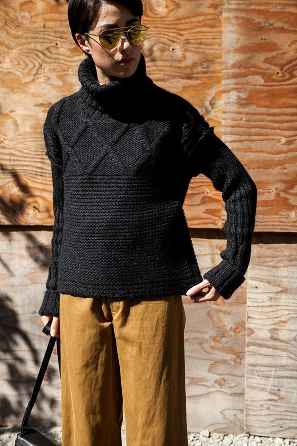 Apiece Apart Turtleneck Fisherman Sweater
