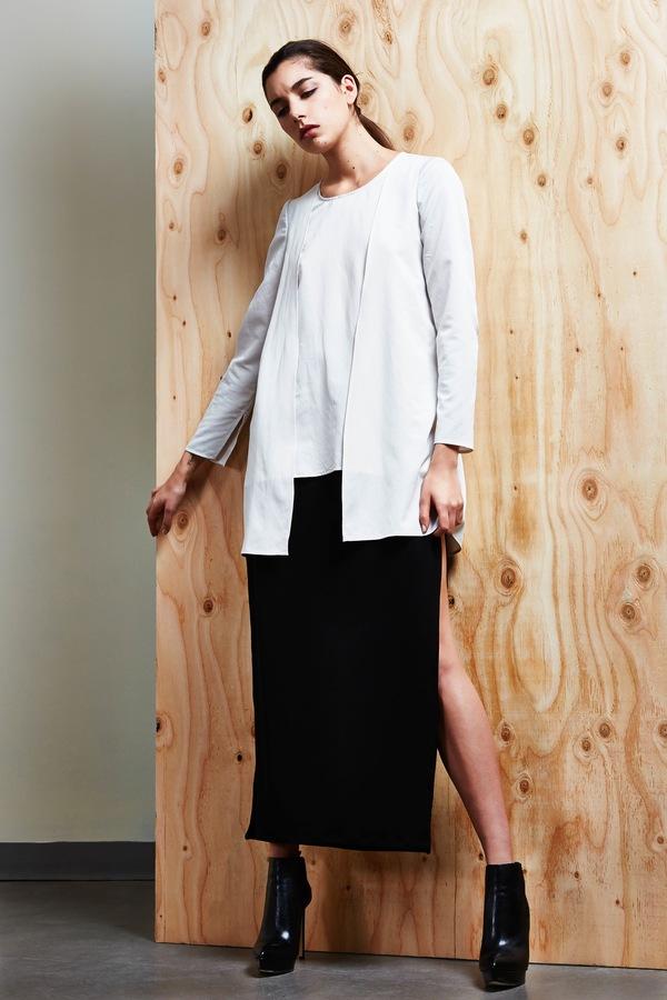 Devlyn van Loon Split Seam Maxi Skirt