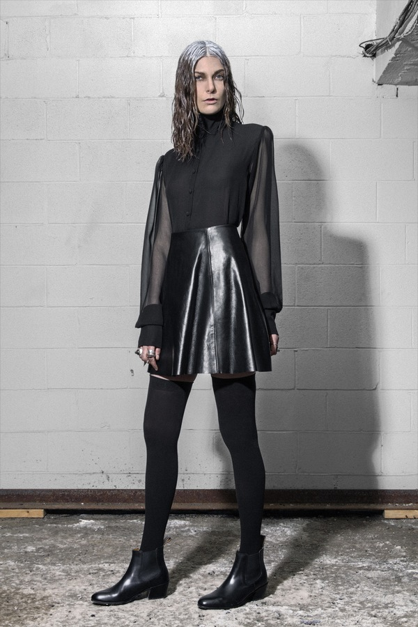Brit Wacher 'Cosmic Slop' Leather Bonded Skirt