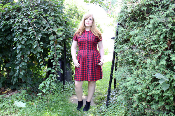 Birds of North America Visorbearer Dress (Buffalo Check)