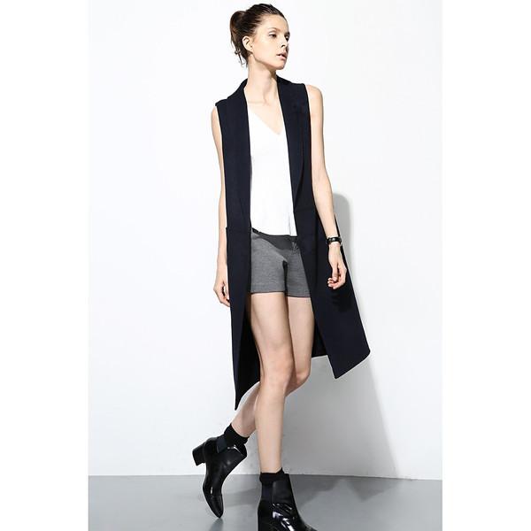 FEW MODA Double Pocket Wool Waistcoat