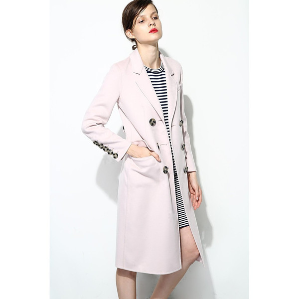 FEW MODA Italian Cashmere Double Breasted Coat