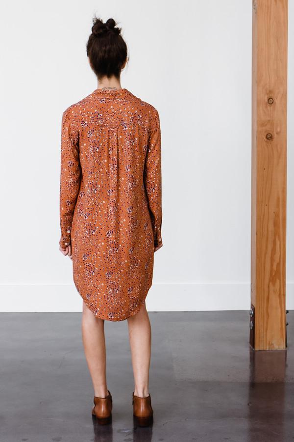 Bridge & Burn Insley Leopard Dot Dress