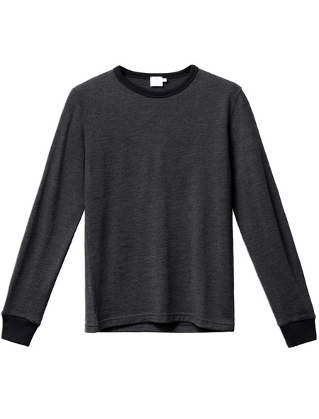 Sunspel Long Sleeve Jumper Charcoal