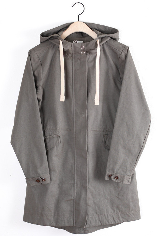 Molly Olive Hooded Jacket