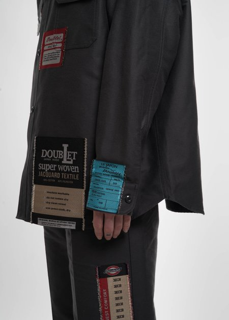 Doublet Dark Grey Deadstock Jacquard Shirt