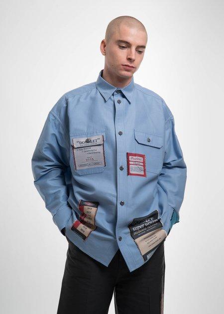 Doublet Light Blue Deadstock Jacquard Shirt